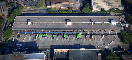 Preston Bus Station aerial photograph