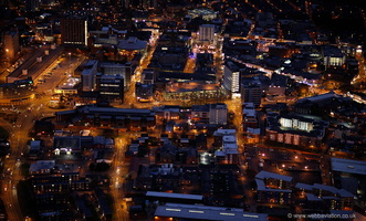 Preston at night from the air