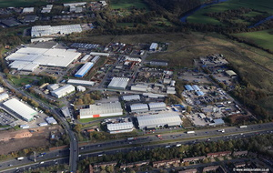 Red Scar Industrial Estate Longridge Rd Preston aerial photograph