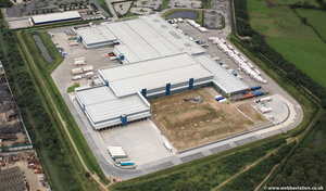 Spar Distribution Preston PR2  from the air