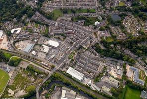 Ramsbottom from the air near verticle