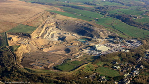 Scout Moor Quarry Lancashire from the air