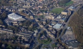 Rawtenstall  Lancashire from the air