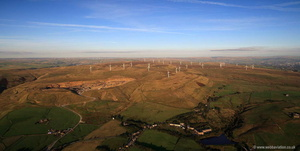 Scout Moor Wind Farm aerial photograph