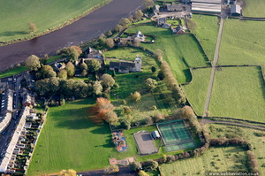 Ribchester site of the Roman Fort Lancashire aerial photograph