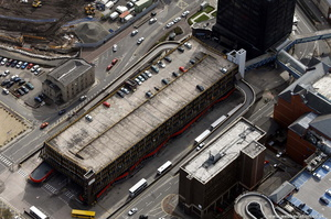 Baillie Street Bus Station  Rochdale  from the air