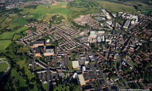 Heywood   Rochdale Lancashire aerial photograph
