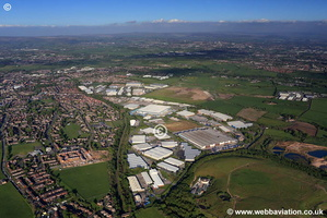 Heywood Distribution Park  Rochdale Lancashire aerial photograph
