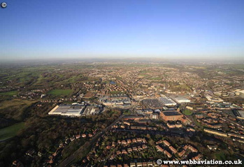 Middleton  Rochdale Lancashire aerial photograph
