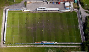 Mayfield Sports Centre Castleton Rochdale home of Rochdale Town FC aerial photograph