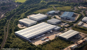 Agecroft Commerce Park Salford from the air