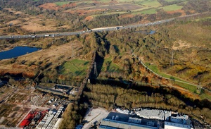 Clifton Viaduct  Salford Greater Manchester  Lancashire aerial photograph