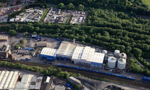 Cobden Street Recycling Centre,  Salford, M6  from the air