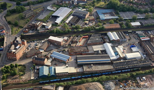 Cobden Street Salford  from the air