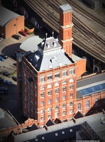 Threfalls Brewery  Salford Greater Manchester  Lancashire aerial photograph