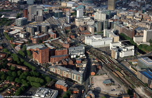 Trinity Way Salford  from the air