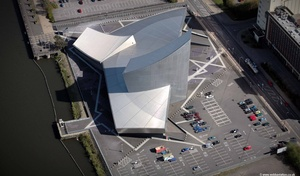 Imperial War Museum North  Salford Greater Manchester  Lancashire aerial photograph