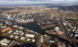 Salford Greater Manchester  Lancashire aerial photograph