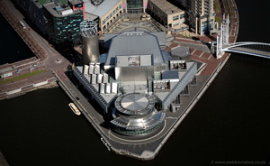 The Lowry Salford Greater Manchester  Lancashire aerial photograph