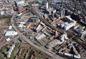 Trinity Way Salford Greater Manchester  Lancashire aerial photograph