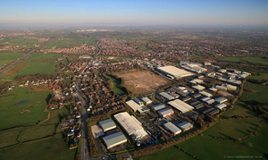 Wingates Industrial Park Westhoughton Lancs  from the air