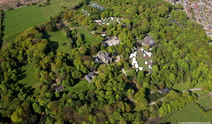 Bispham Hall  Church Wigan aerial photograph