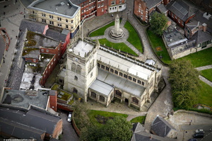 All Saints Church Wigan aerial photograph