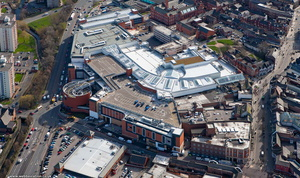 Grand Arcade Shopping Centre , Wigan from the air