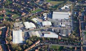 Highfield Industrial Estate,  Little Hulton Worsley,from the air