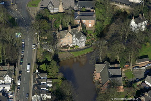 Worsley Old Hall Greater Manchester, from the air