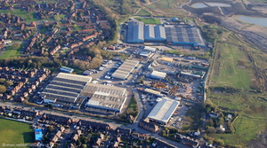 Worsley Trading Estate Little Hulton from the air