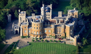 Belvoir Castle aerial photograph