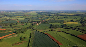 the Leicestershire countryside around the village of  Branston from the air