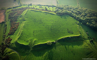 Burrough-on-the-hill late bronze age / early  iron age Univallate hill fort i aerial photograph