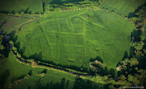 Ingarsby  deserted medieval village  Leicestershire  aerial photograph