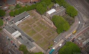 Jewry Wall  Leicester  from the air