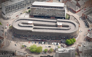 NCP Lee Circle Car Park , Leicester   from the air
