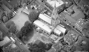 Leicester Cathedral,, Leicester from the air