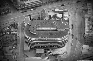 NCP Leicester Abbey St multi story car park and the Sky Plaza Hotel Leicester from the air