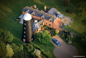 Long Clawson windmill Leicestershire aerial photograph