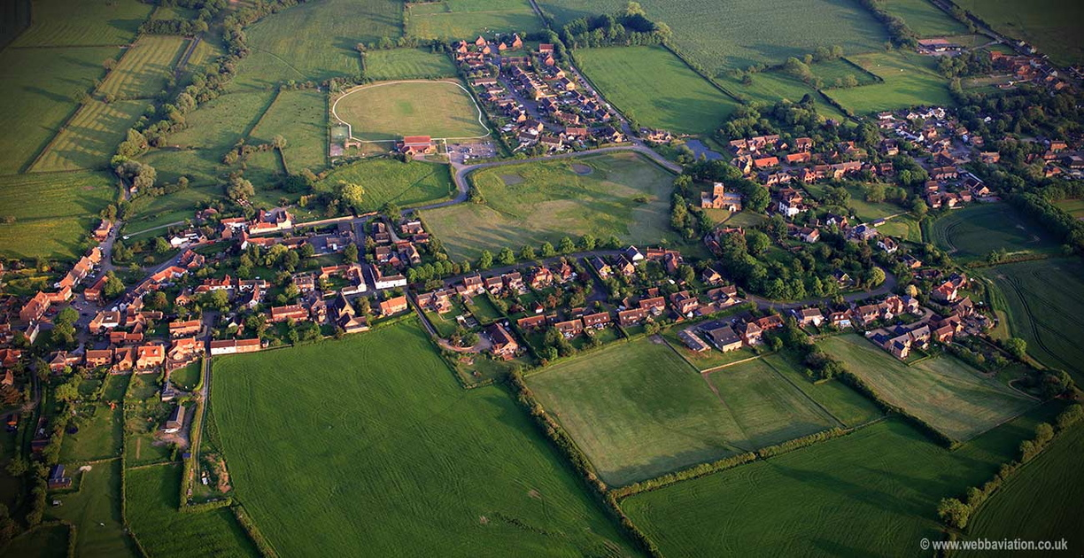 Long Clawson Leicestershire aerial photograph