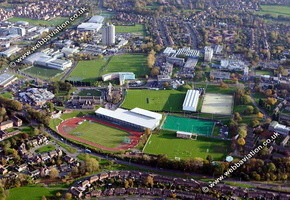Loughborough Leicestershire England UK aerial photograph