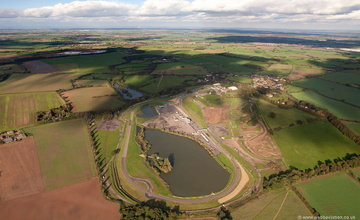 Mallory Park race track from the air