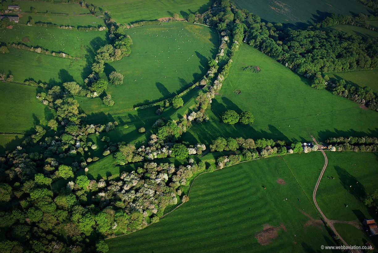 disused railway - Marefield Junction  aerial photograph