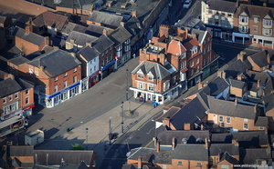 Market Place  Melton Mowbray  aerial photograph