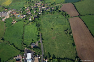 Earthworks at Thopre Arnold near Melton Mowbray Leicestershire   aerial photograph