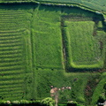 Moated grange and enclosure at Owston Leicestershire aerial photograph