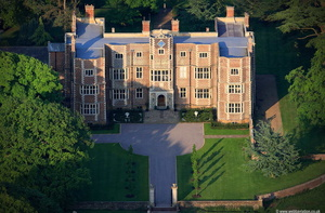 Quenby Hall Jacobean house  Leicestershire aerial photograph