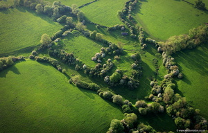 Sauvey Castle, Leicestershire aerial photograph