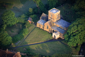 St. Remigius Church , Long Clawson,  Leicestershire aerial photograph